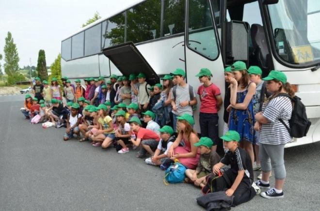 le départ des enfants de Charente-maritime